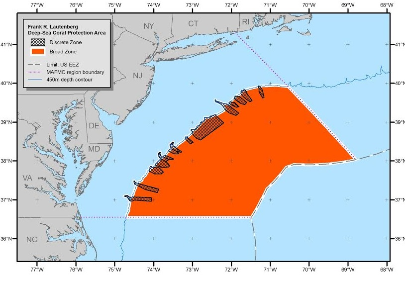 Deep -Sea Coral MPA Established Off Mid-Atlantic With Fishing Exemptions for Lobsters and Red Crabs